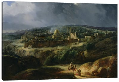 View of Jerusalem from the Valley of Jehoshaphat, 1825  Canvas Art Print