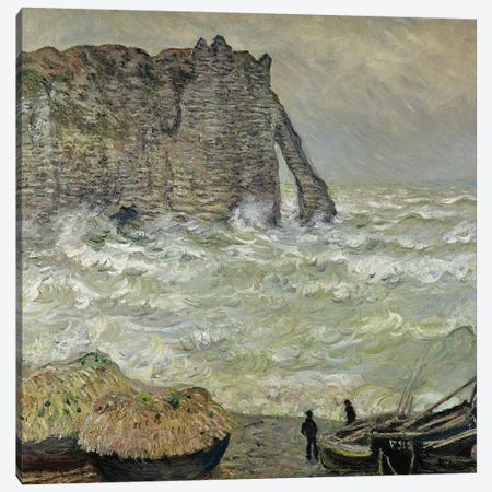 Rough Sea at Etretat, 1883  Canvas Print #BMN2780} by Claude Monet Canvas Art Print