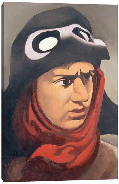 Portrait of Guynemer, 1921-23  Canvas Art Print