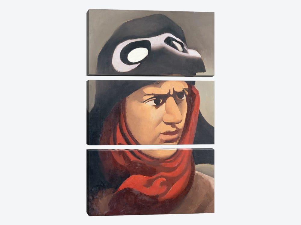 Portrait of Guynemer, 1921-23  by Roger de la Fresnaye 3-piece Canvas Print