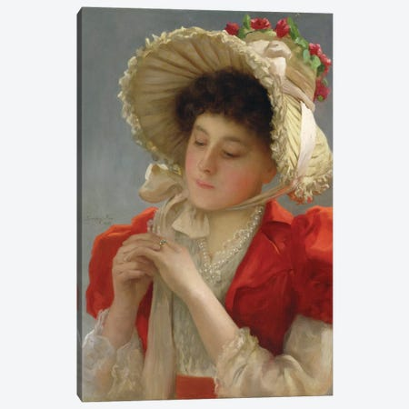 The Engagement Ring, 1898  Canvas Print #BMN2786} by John Shirley Fox Canvas Artwork