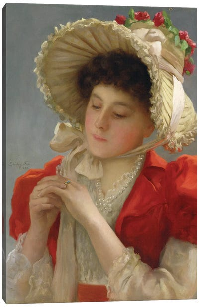 The Engagement Ring, 1898  Canvas Art Print
