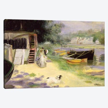 View Of Bougival, 1873 Canvas Print #BMN2793} by Pierre-Auguste Renoir Canvas Artwork