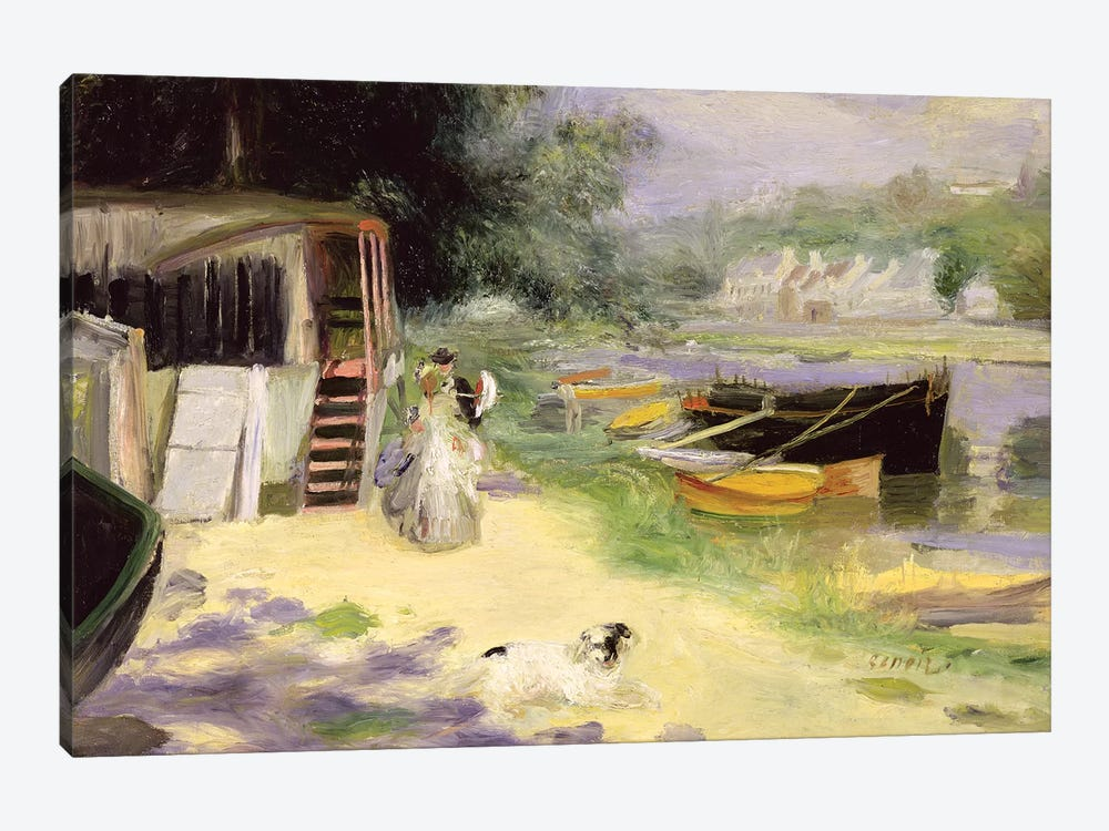 View Of Bougival, 1873 by Pierre-Auguste Renoir 1-piece Canvas Artwork