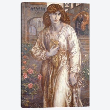 The Salutation  Canvas Print #BMN2794} by Dante Gabriel Charles Rossetti Art Print