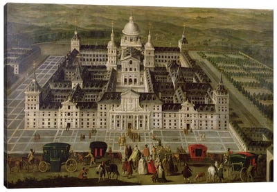 View of El Escorial  Canvas Art Print