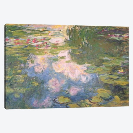 Nympheas, c.1919-22  Canvas Print #BMN2798} by Claude Monet Canvas Wall Art