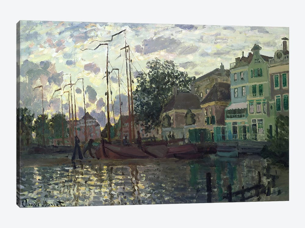 The Dam at Zaandam, Evening, 1871  by Claude Monet 1-piece Canvas Wall Art