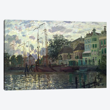The Dam at Zaandam, Evening, 1871  Canvas Print #BMN2799} by Claude Monet Canvas Wall Art