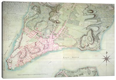 Plan of New York, 1776  Canvas Art Print