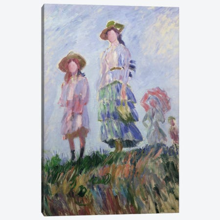 The Walk  Canvas Print #BMN2800} by Claude Monet Canvas Artwork