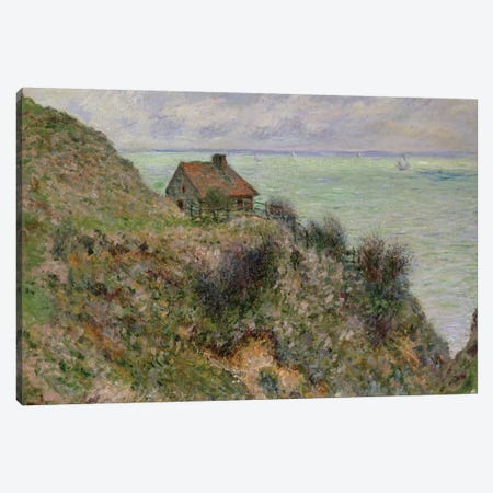 The Customs Officers' Hut at Pourville, 1882  Canvas Print #BMN2801} by Claude Monet Canvas Artwork