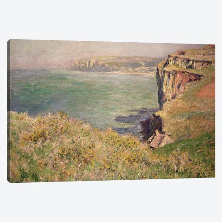 Cliff at Varengeville, 1882  Canvas Print #BMN2802} by Claude Monet Canvas Wall Art