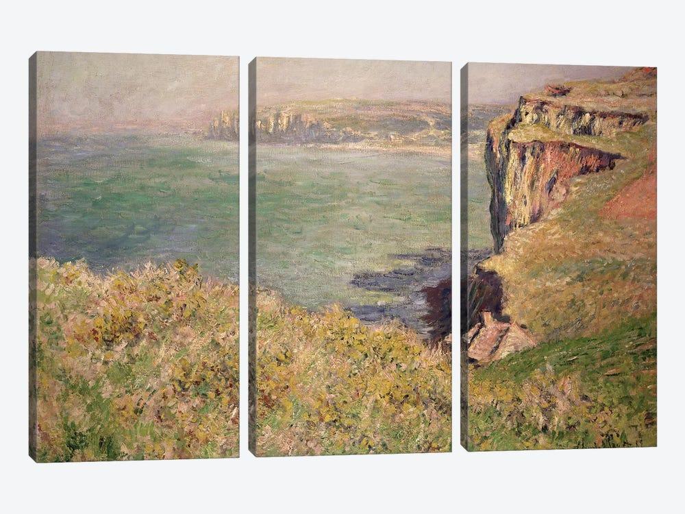 Cliff at Varengeville, 1882  by Claude Monet 3-piece Canvas Art