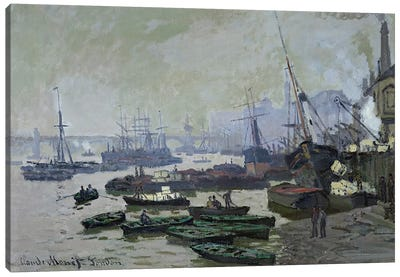 Boats in the Pool of London, 1871  Canvas Print #BMN2803