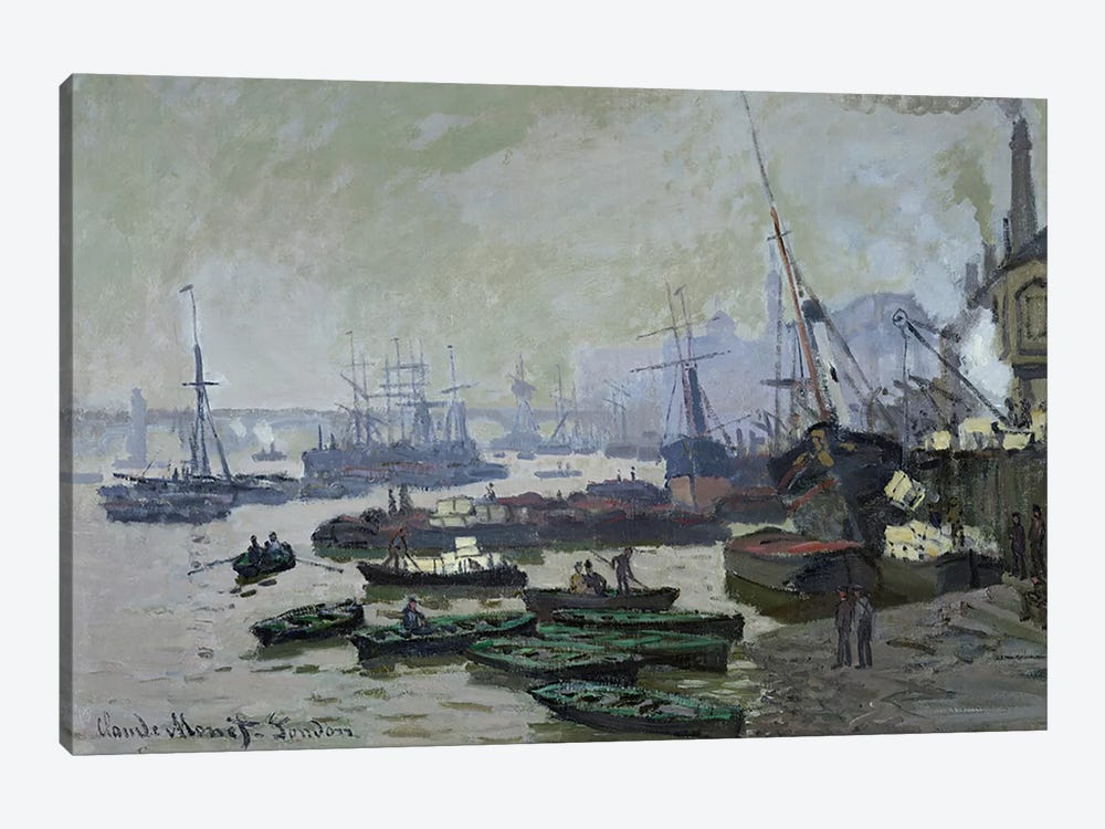 Boats in the Pool of London, 1871  by Claude Monet 1-piece Art Print