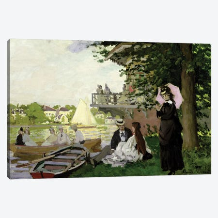 Garden House on the Zaan, Zaandam, 1871  Canvas Print #BMN2805} by Claude Monet Canvas Art Print