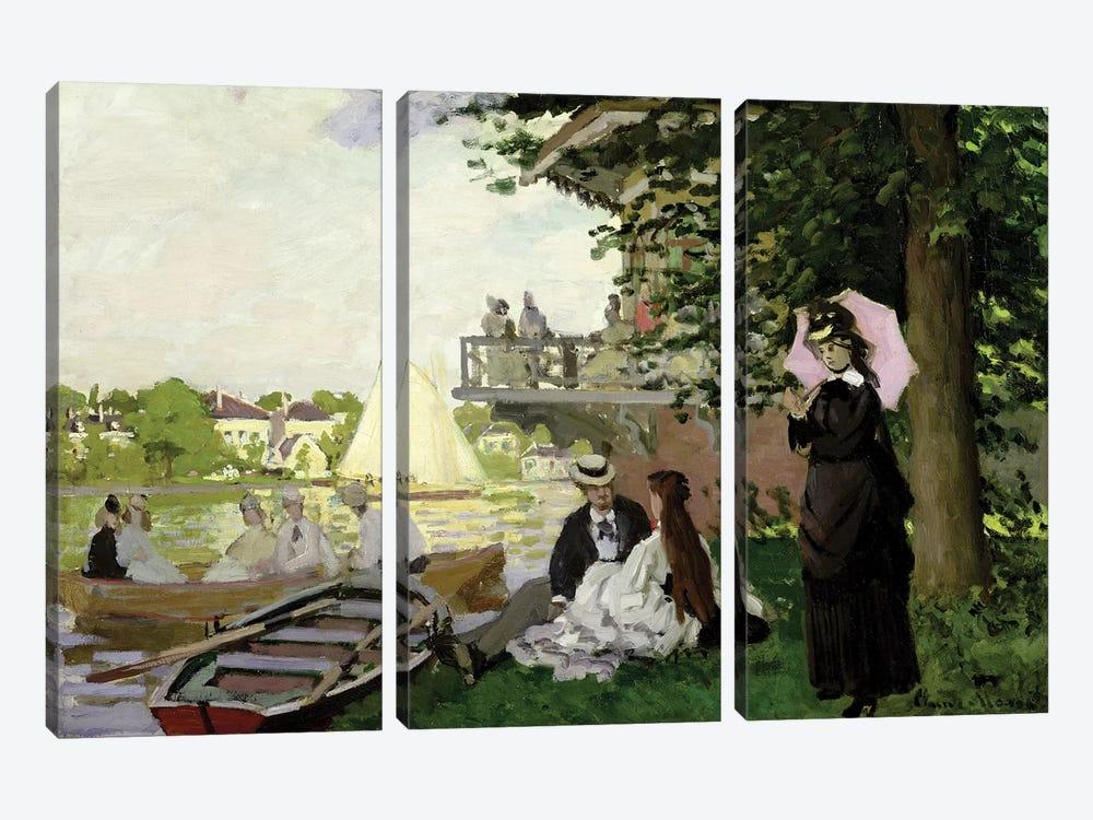 Garden House on the Zaan, Zaandam, 1871  by Claude Monet 3-piece Canvas Print