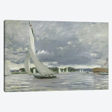 Regatta at Argenteuil, 1872  Canvas Print #BMN2806} by Claude Monet Art Print