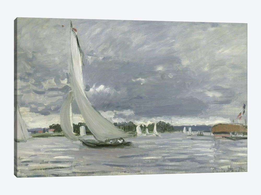 Regatta at Argenteuil, 1872  by Claude Monet 1-piece Canvas Artwork