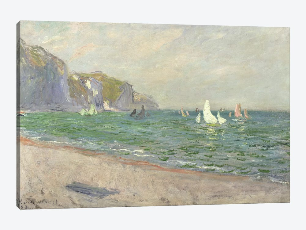 Boats below the Cliffs at Pourville, 1882  by Claude Monet 1-piece Art Print