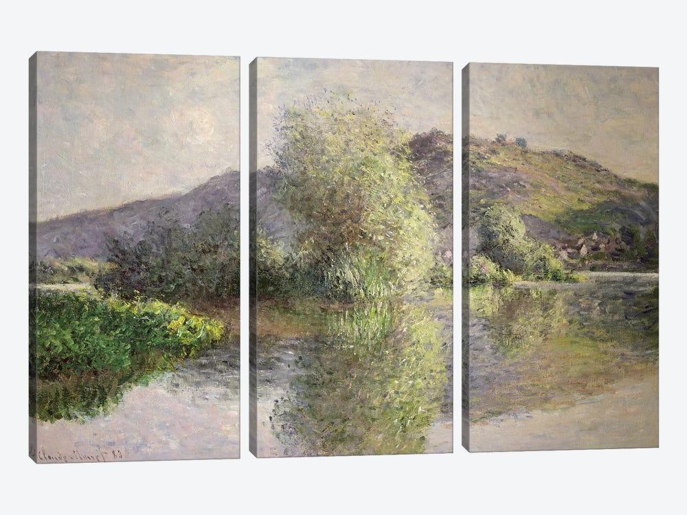Little Islands at Port-Villez, 1883  by Claude Monet 3-piece Canvas Wall Art