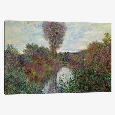 Small Branch of the Seine, 1878  Canvas Print #BMN2810} by Claude Monet Canvas Print