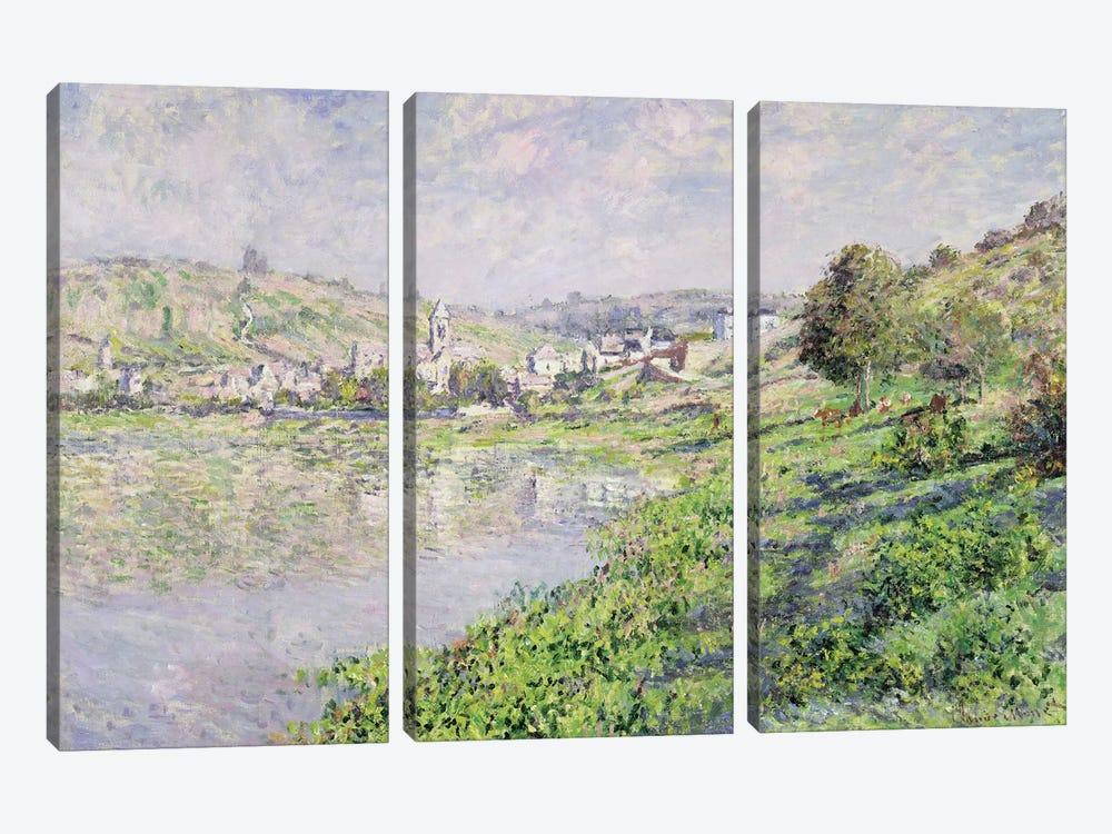 Vetheuil, 1879  by Claude Monet 3-piece Canvas Art