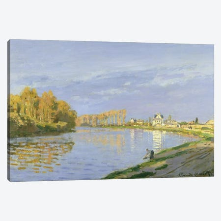 The Seine at Bougival, 1872  3-Piece Canvas #BMN2812} by Claude Monet Art Print