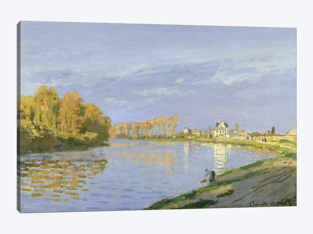 The Seine at Bougival, 1872  by Claude Monet 1-piece Canvas Art Print