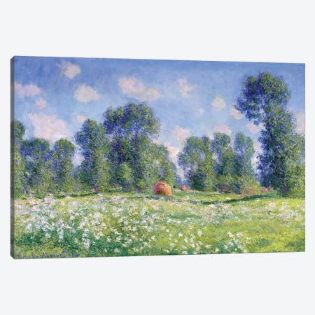 Effect of Spring, Giverny, 1890  Canvas Print #BMN2813} by Claude Monet Canvas Art Print