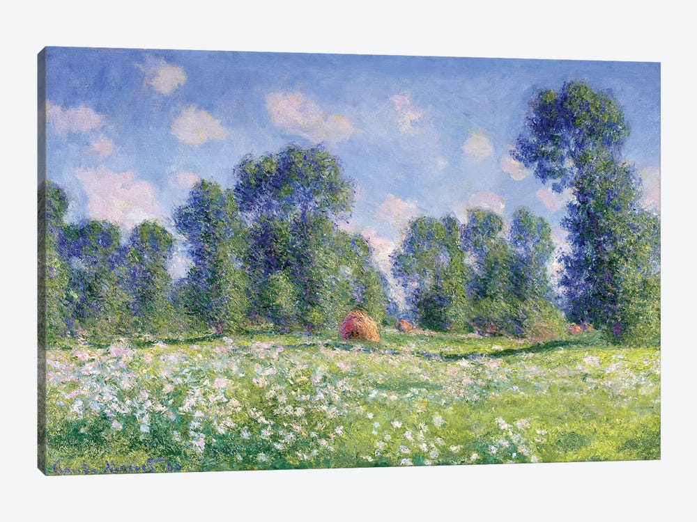 Effect of Spring, Giverny, 1890  by Claude Monet 1-piece Canvas Artwork