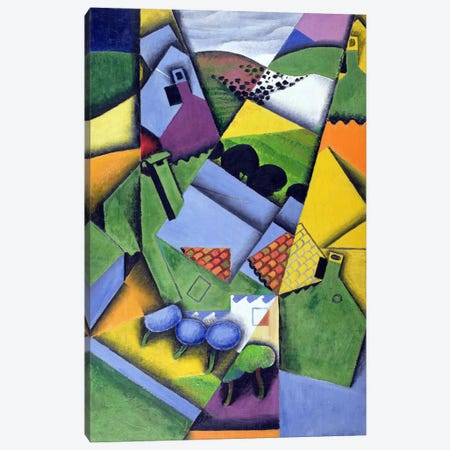 Landscape and Houses at Ceret, 1913  Canvas Print #BMN2815} by Juan Gris Canvas Art
