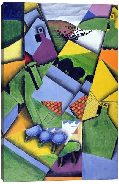 Landscape and Houses at Ceret, 1913  Canvas Art Print