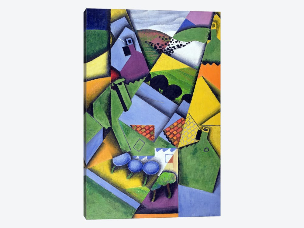 Landscape and Houses at Ceret, 1913  by Juan Gris 1-piece Canvas Wall Art