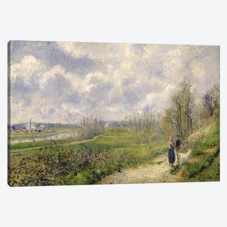 La Sente du Chou, near Pontoise, 1878  Canvas Print #BMN2816} by Camille Pissarro Canvas Wall Art