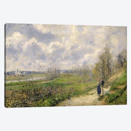 La Sente du Chou, near Pontoise, 1878  Canvas Print #BMN2816} by Camille Pissarro Canvas Wall Art