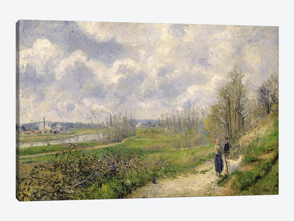 La Sente du Chou, near Pontoise, 1878  by Camille Pissarro 1-piece Art Print