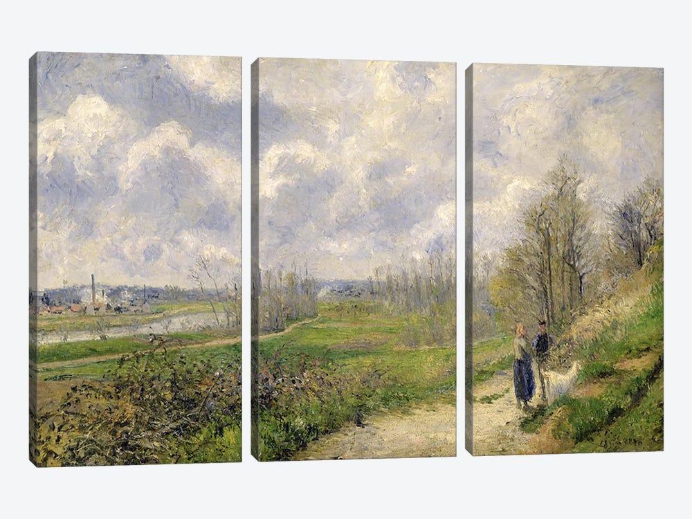 La Sente du Chou, near Pontoise, 1878  by Camille Pissarro 3-piece Canvas Art Print