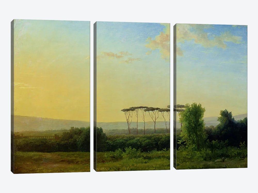 Roman Countryside  by Pierre Henri de Valenciennes 3-piece Canvas Wall Art