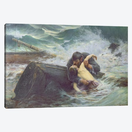 Adieu, 1892  Canvas Print #BMN2819} by Alfred Guillou Art Print