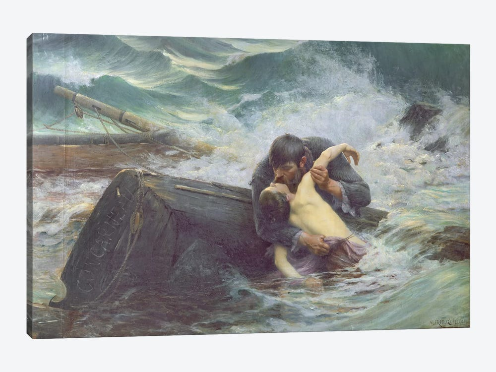 Adieu, 1892  by Alfred Guillou 1-piece Canvas Wall Art