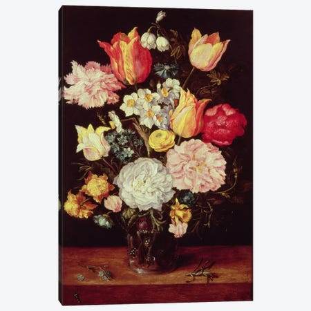 Flower Piece Canvas Print #BMN281} by Pieter Brueghel the Younger Canvas Wall Art