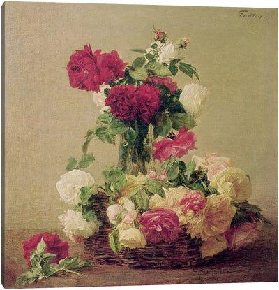 Roses, 1891  Canvas Art Print