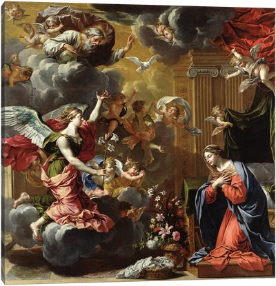 The Annunciation, 1651-52  Canvas Art Print