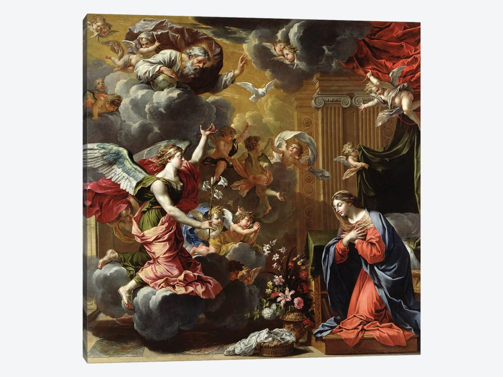 The Annunciation, 1651-52  by Charles Poerson 1-piece Canvas Artwork
