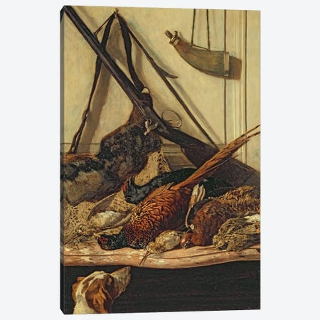 Hunting Trophies, 1862  Canvas Print #BMN2824} by Claude Monet Art Print