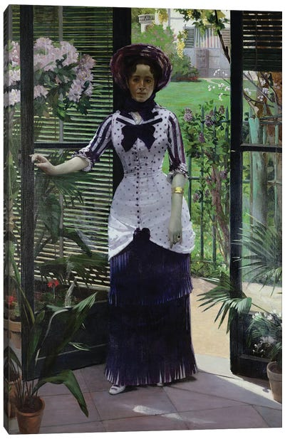In the Greenhouse, 1881  Canvas Art Print
