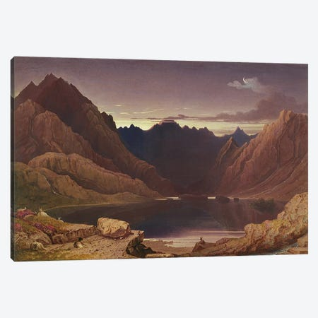 Loch Coruisk, Isle of Skye - Dawn, c.1826-32  Canvas Print #BMN2826} by George Fennel Robson Canvas Print