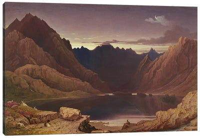 Loch Coruisk, Isle of Skye - Dawn, c.1826-32  Canvas Art Print